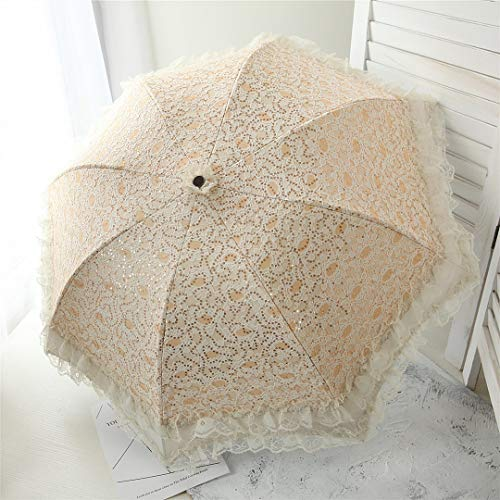 Komori 日傘完全遮光UVカット率100%のレース刺繍立体的な花柄カット加工晴雨兼用
