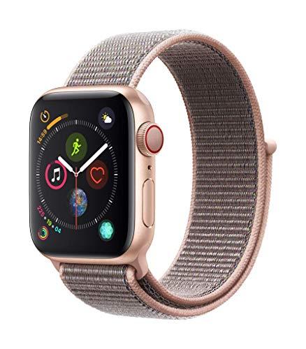 Apple Watch Series 4(GPS Cellularモデル)- 40mmゴールドアルミニウムケースとピンクサンドスポーツループ