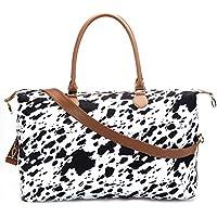 Cow Print Weekender Bag Duffle Bag for Women Travel Tote Bag Overnight Weekend Bag Large Shoulder Bag