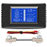 Spartan Power Battery Monitor and Multimeter 0-100A 6.5V-100VDC LCD Digital Display Comes with 100A Current Shunt