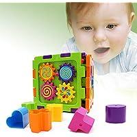 DIYurfeeling ベビーシェイプソーター幼児アクティビティ玩具 - ファースト 学習ブロック パズル Ed Toys 教育用ギフト - 幼児