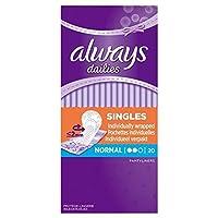 Always Dailies Liners Single Wrapped 20 per pack (Pack of 6) - シングルパックあたり20を包ん常にラッシュライナー x6 [並行輸入品]