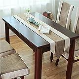 OSONA 簡約 復古 綿100% テーブルランナー 北欧 テーブルセンター 新居祝い 花模様 おしゃれ 二色 五サイズ 縦150cm*横35cm