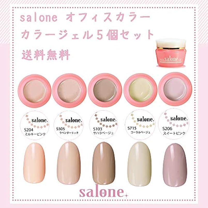 【送料無料 日本製】Salone オフィスカラー カラージェル5個セット オフィスにもオススメ出来るカラー