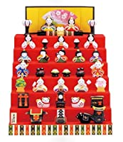 【お雛さま】【雛人形】 錦彩 花かざり雛 七段飾り