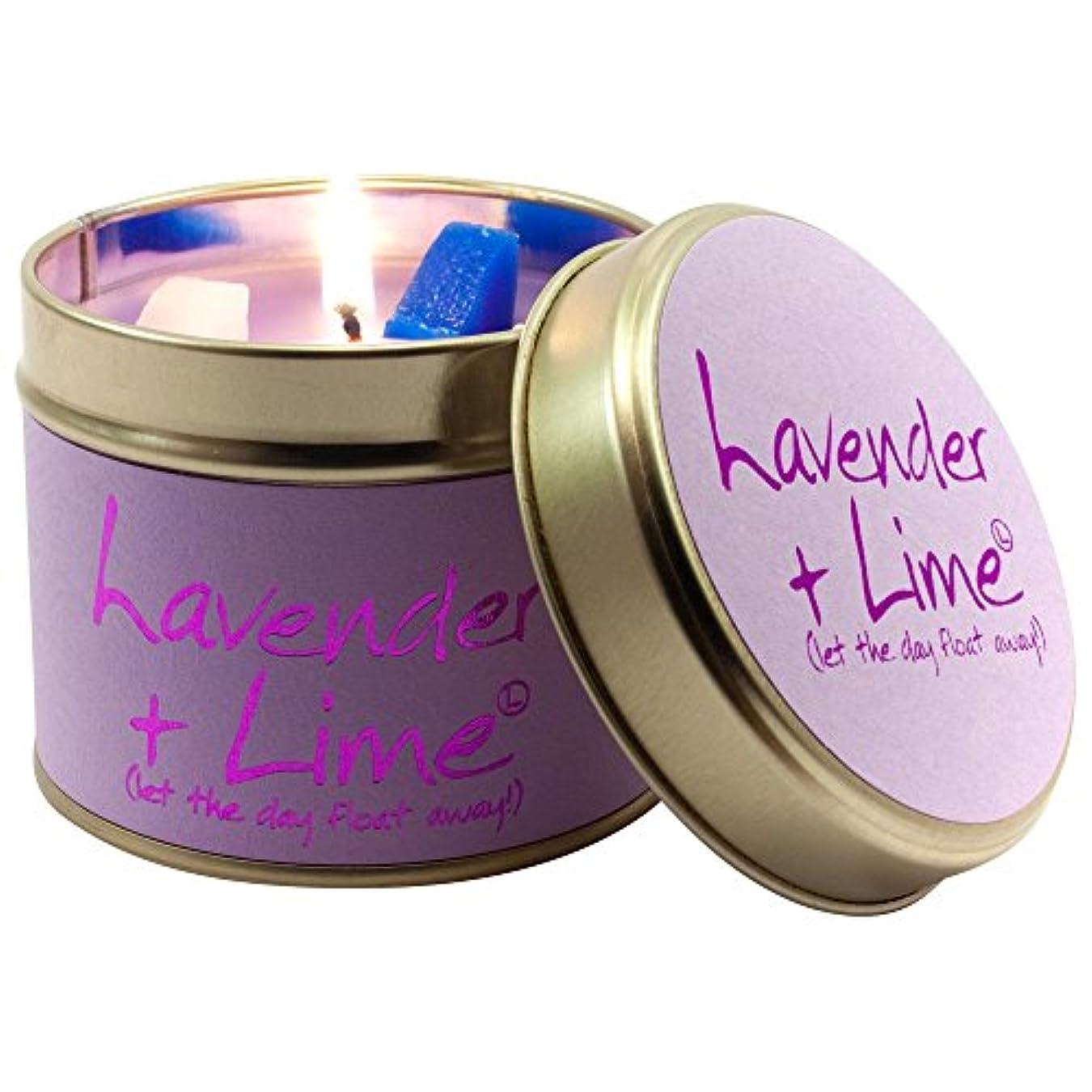ボーダーしょっぱい捨てるLily-Flame Lavender and Lime Scented Candle Jar (Pack of 6) - ユリ炎ラベンダー、ライムの香りのキャンドルジャー (Lily-Flame) (x6) [並行輸入品]