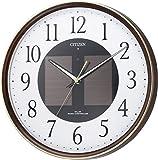 シチズン 電波 ソーラー 掛け時計 アナログ エコライフ M807 エコマーク グリーン購入法 適合商品 蓄光 オフィス 茶 (木目仕上) CITIZEN 4MY807-023