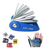 【mini tool 7】 サイクル携帯工具 7機能 75g マイクロ チェーンカッター 60g 手のひらサイズ 単品 セット 選択可 バルブアダプター 付
