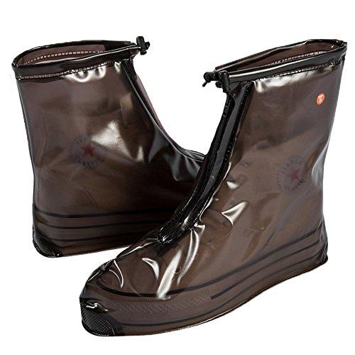 YUUWAレイン ブーツ カバー男女兼用防水レインシューズカバー梅雨対策シューズ カバー防水 雨 雪 泥除け 雨具 通勤 通学シューズカバー携帯ビニール3カラー