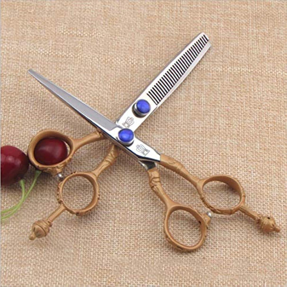 バンガロー持つスケッチハイエンド理髪はさみ - 髪を薄くするはさみキット、プロの理髪師はさみ モデリングツール (Design : B)