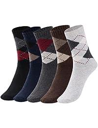 Yidarton ビジネスソックス メンズ 靴下 カジュアル 抗菌 防臭 通気性抜群 フリーサイズ 5足セット