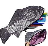 iSuperb ペンケース 魚ポーチ ペンポーチ 化粧ポーチ アクセサリーポーチー 筆箱 小物入れ 人気でおしゃれ かわいい