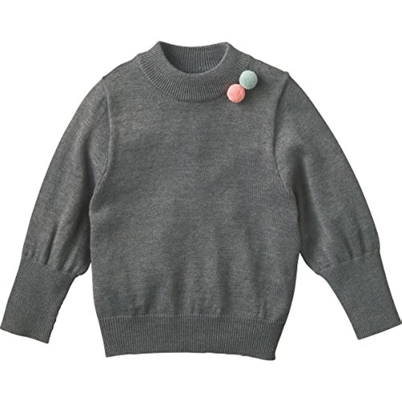 コンビミニ ハイネックセーター 80 杢チャコールグレー