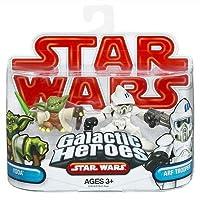 Star Wars 2009 Galactic Heroes 2-Pack Clone ARF Trooper and Yoda