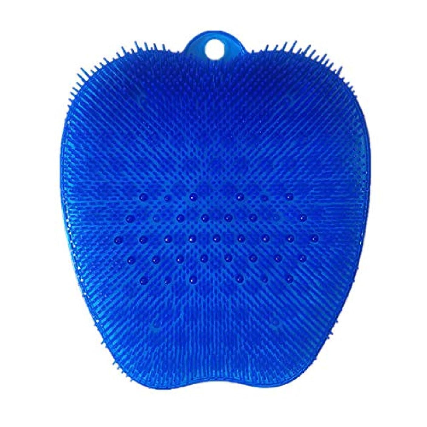 召喚するそれにもかかわらず誘惑足洗いブラシ 滑らない吸盤付き ブルー フットケア フットブラシ 角質ケアブラシ お風呂で使える