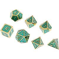 SunniMix 合金 多面ダイス 多面サイコロ 骰子 テーブルゲーム用 全7色 - タイプ6