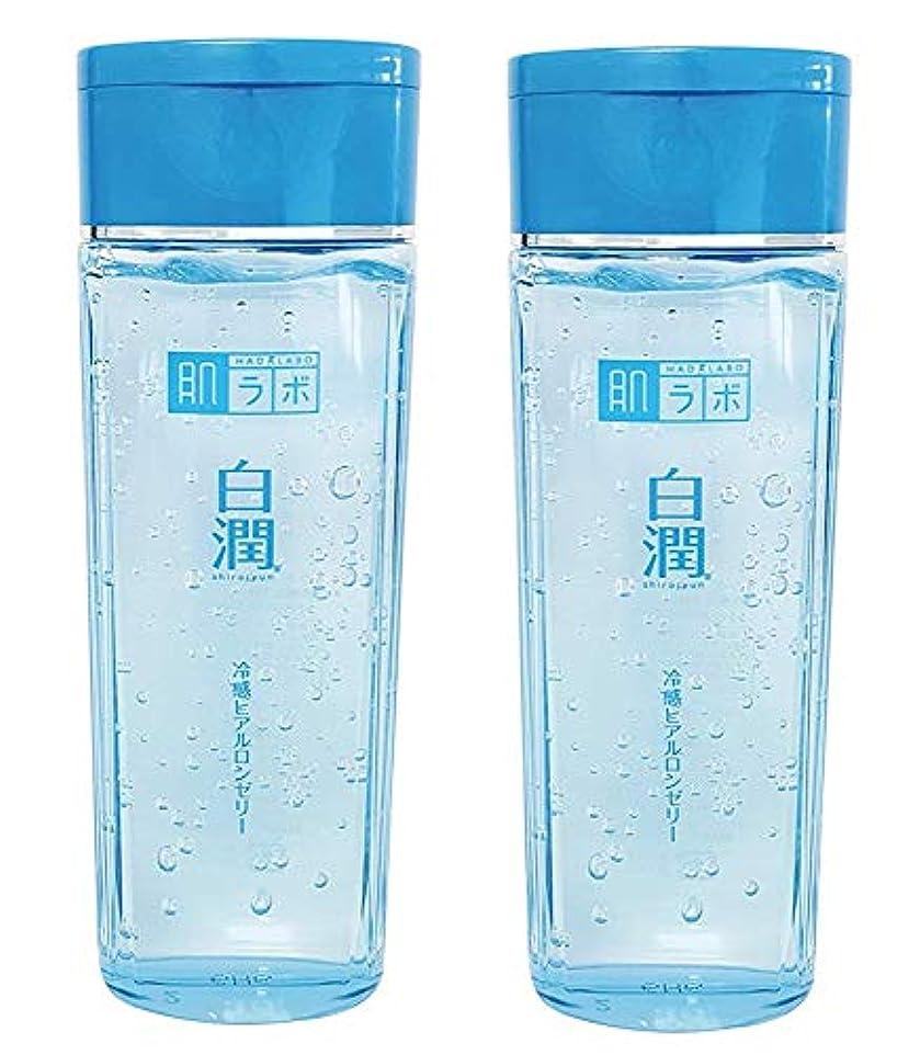承認終わり核【まとめ買い】肌ラボ 白潤 冷感ヒアルロンゼリー 化粧水?乳液?美容液?収れん?パックの5役 4つの潤い成分配合 200mL×2個