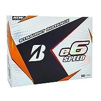 ブリヂストンe6速度距離ゴルフボール( 24pk、ホワイト、2017)高速E - 6