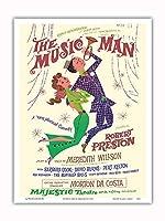 ミュージックマン - 出演:ロバート・プレストン - マジェスティックシアター、ブロードウェイ - ビンテージな劇場のポスター によって作成された デイヴィッド・クライン c.1957 - アートポスター - 23cm x 31cm