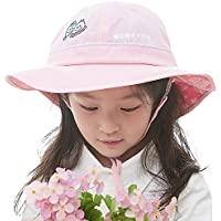 Siggi UPF50+ 4-10 Years Kid Bucket Sun Hat Foldable 51-53CM w/ Chin Cord Floppy