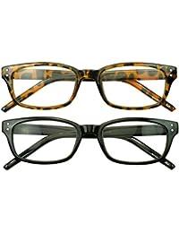 Sunglass停止 – 長方形+ 1.00 Thur + 3.50倍率Reading Glasses単一または2パック