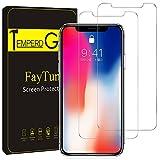 iPhoneX 保護フィルム-FayTun(3枚セット)iPhoneX ガラスフィルム- 日本製素材 旭硝子 液晶保護フィルム 飛散防止