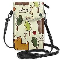 Domestic Dog ミニバック 斜めかけバッグ ポシェット ショルダーバッグ スマートフォンポーチ カード収納ポケット 小銭入れ 小物入れ 肩掛け 軽量 小さめ かわいい 人気 シンプル 多機能 メンズ