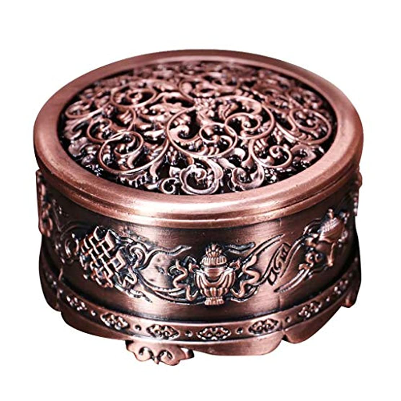 後ろにびん法的芳香器?アロマバーナー 合金銅香バーナー香ホルダー金属ヴィンテージ手芸フラワーセンサールームの装飾 アロマバーナー芳香器 (Color : Bronze)