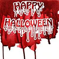 Qinunipoto 背景布 ハロウィン happy halloween 撮影用 写真撮影用 出血 血痕 白い背景 写真の背景 生放送 ファンション撮影 子供の写真 ポートレート写真の背景 自宅 写真館 背景幕 ビニール 3x3m