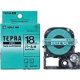 KING JIM 「テプラ」PROパール色テープ 緑/黒文字 SMP18G