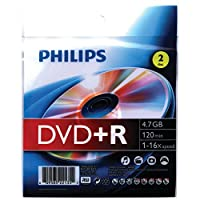 Philips 4.7GB 16X DVD+RS With Foil Wrap - 2Pack [並行輸入品]