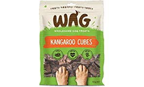 WAG Kangaroo Cubes 750g, Grain Free Hypoallergenic Natural Australian Made Dog Treat Chew, Perfect for Puppies and Seniors