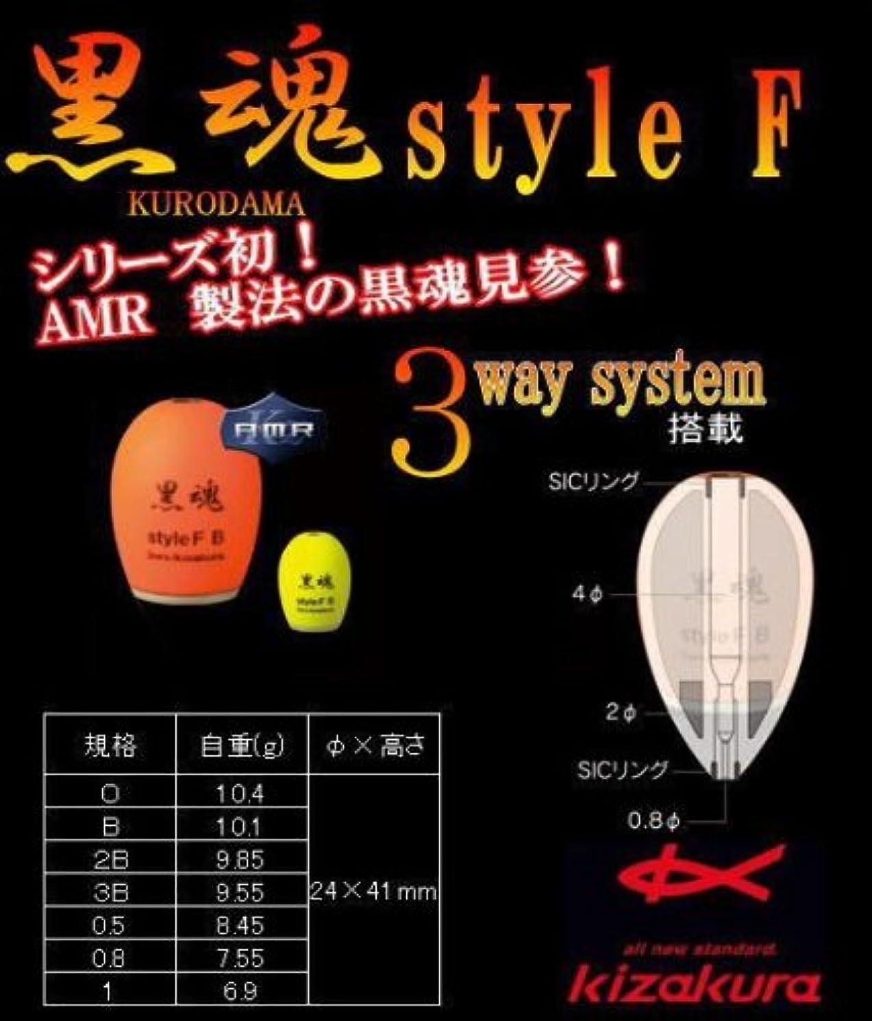 指紋ポータブルバッグキザクラ(kizakura) 黒魂 スタイルF B イエロー