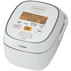 象印 炊飯器 圧力IH式 鉄器コート豪熱羽釜 5.5合炊き ホワイト NW-JS10-WA
