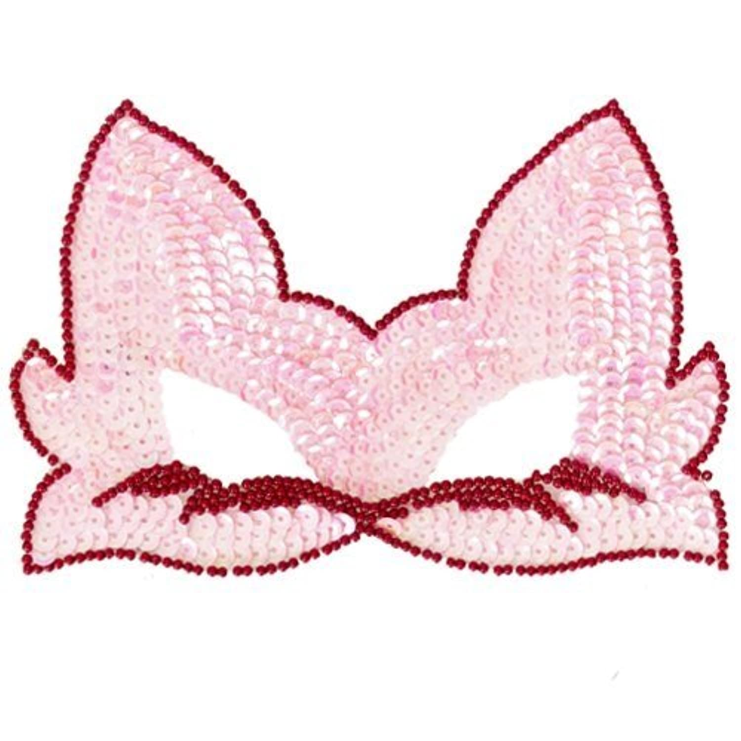 Fun Party Toy - Sequin Party Cat Mask (Pink)