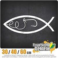 Fishing - 3つのサイズで利用できます 15色 - ネオン+クロム! ステッカービニールオートバイ