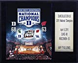 "NCAA Duke Blue Devils Men's Basketball 2015 National Champions Plaque, 12 x 15"" by C&I Collectables [並行輸入品]"