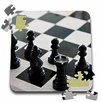 Sven Herkenrathゲーム–チェスゲームボードブラックandホワイト–10x 10インチパズル(P。_ 236458_ 2)