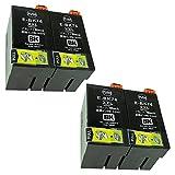 EPSON ICBK76 (BK×4) 【大容量ブラック/4本セット】 Hyper互換インクカートリッジ 【nasia+製】 (最新型ICチップ/残量検知/製品1年保証付き) IC76 BK4