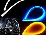 24vトラック・バス用 シーケンシャル流れるウィンカー&青色デイライト!シリコンチューブLEDウィンカーポジションキット/60cm・青黄ダブル発光/左右2本セット ツインカラー/ブルー⇔アンバー スモール連動 ウィポジ