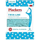 Plackers Twin Line Whitening Flosser 75 Count