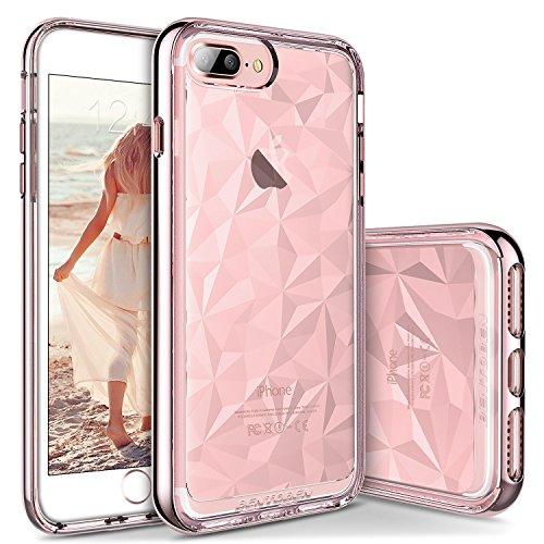 iPhone 7/8 Plus ケースiPhone 8 Plus カバー BENTOBEN スマホケースiphone7 Plus case 超薄 高品質 TPU バンパー スリム 衝撃吸収 落下防止 アイフォン 7プラス ケース ピンク