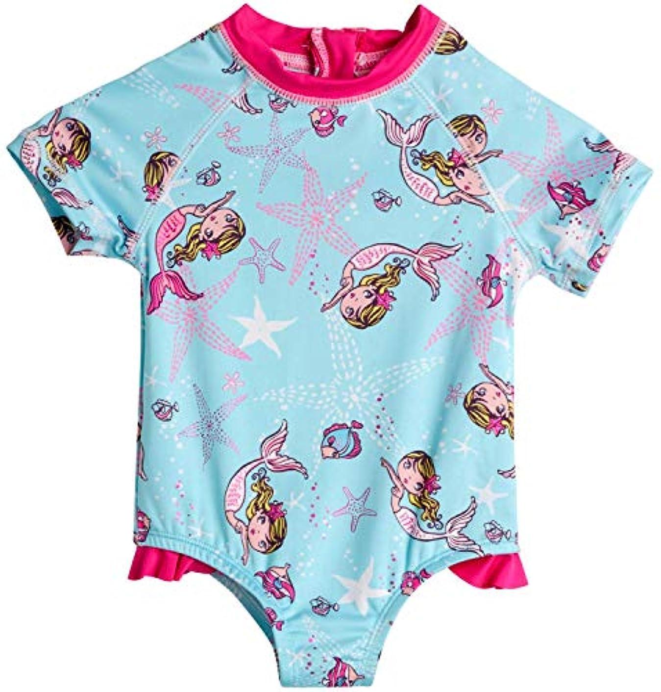 シェア試用富豪Wippette 女児用ワンピースラッシュガード水着 (新生児/乳児)