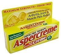 Aspercreme Odor Free Topical Analgesic Cream, 3 Ounce Tubes, (Pack of 6)