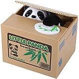 elegantstunning Viskey Cute Stealing Coin Cat Money Box Piggy Bank, Panda