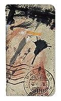 スマホケース 手帳型 ベルトなし l-01j ケース 8048-C. 絵の具ブラウン v20 pro l-01j ケース 手帳 [V20 PRO L-01J] プロ エルワンジェイ