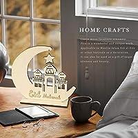 PUERI インテリアグッズ 木製イードムバラク DIYキャッスル ムーンホームデコレーション 家具装飾 贈り物