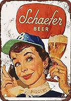 Schaefer Beer Brooklyn Dodgers 金属板ブリキ看板注意サイン情報サイン金属安全サイン警告サイン表示パネル