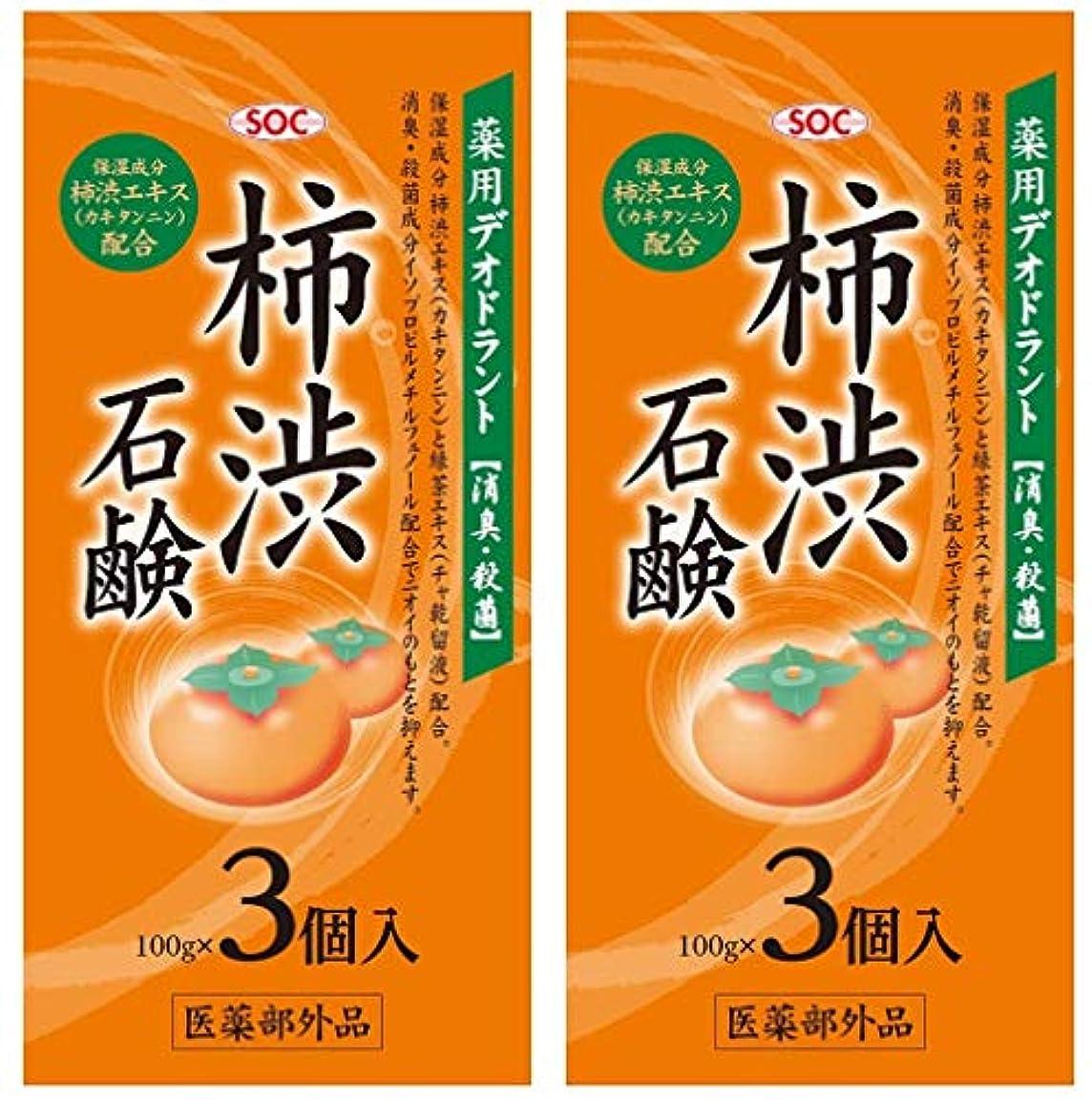 検出器オレンジ警戒SOC 薬用柿渋石鹸 3P (100g×3) 2セット