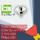 Mini MagLite (ミニ マグライト) LED 変換/アップグレード電球トーチ/懐中電灯 2AAA セル Philips LED